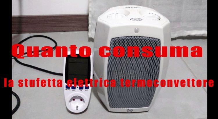 Quanto consuma la stufetta elettrica termoconvettore