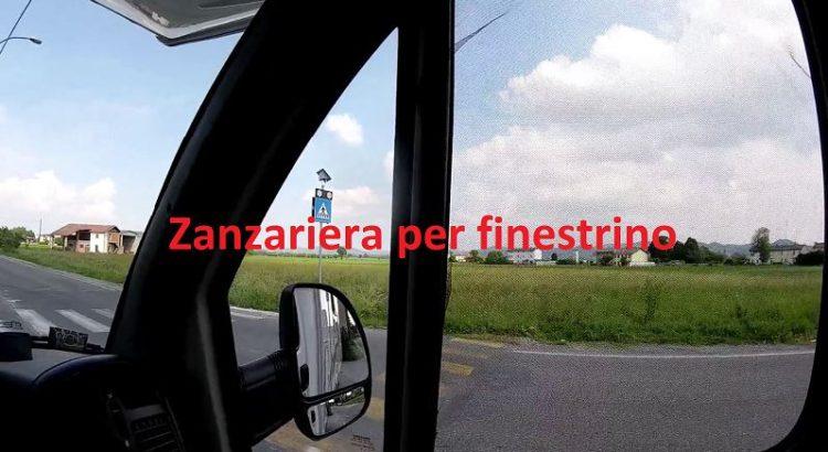 Zanzariera per finestrino auto camper adesiva