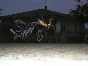 Partenza per il Portogallo in moto
