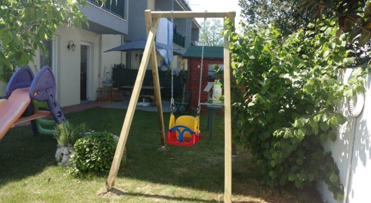 come costruire un'altalena in legno