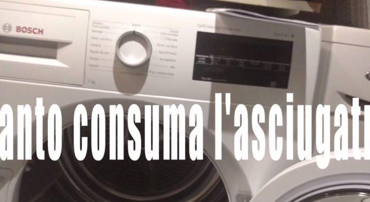 Quanto consuma la mia asciugatrice
