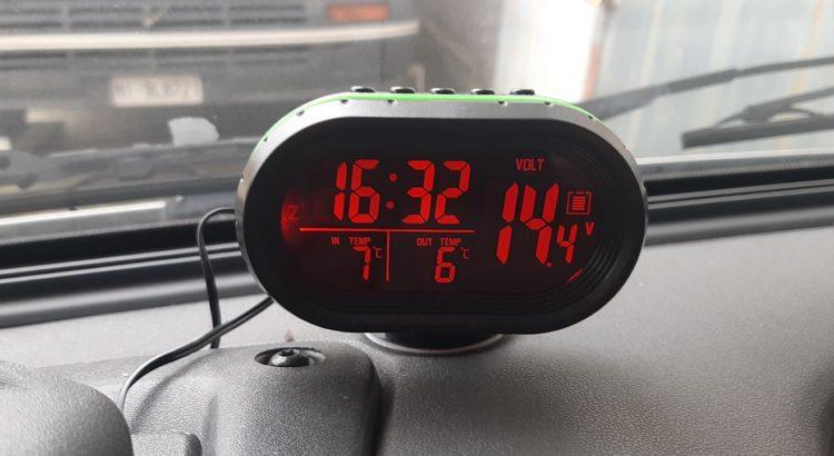Termometro e orologio digitale 12V